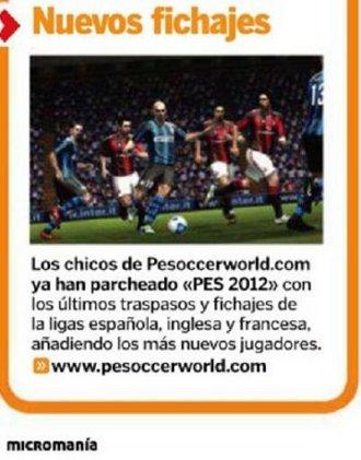 PeSoccerWorld en la revista de videojuegos Micromania