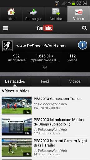 Descarga la versión 1.1 de la aplicación Android de PeSoccerWorld