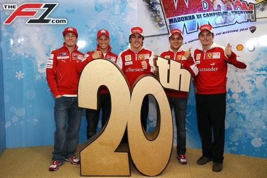 Alonso ya viste de rojo Ferrari