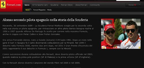 Fernando Alonso ya es piloto de Ferrari