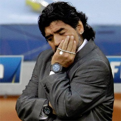 Alemania da una leccion a Maradona