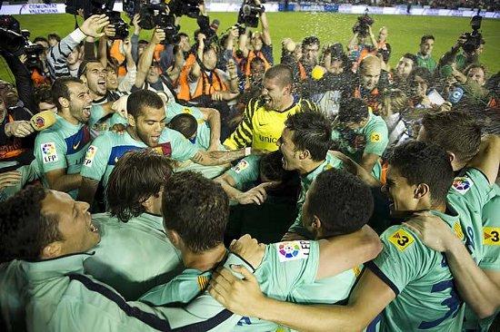 El Barça fue campeón en el primer match ball