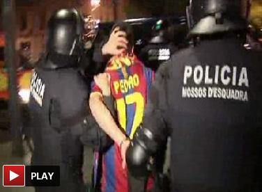 20 detenidos por los incidentes en Canaletas