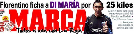 El Real Madrid ficha a Di María por 25 millones