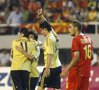 Macedonia 2 - 3 España
