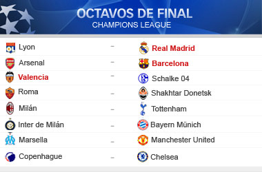 Lyon-Madrid, Valencia-Schalke y Arsenal-Barça