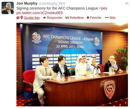 La AFC Champions League llega a PES