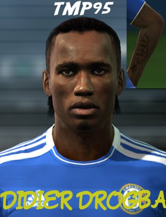 cara didier drogba pro evolution soccer pes