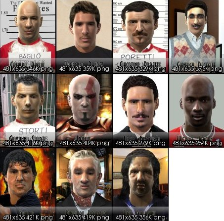 pack de caras de famosos para pro evolution soccer 2011