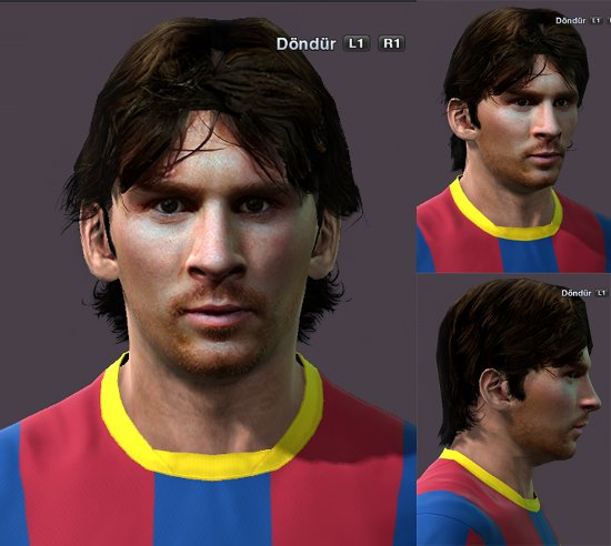cara messi pro evolution soccer