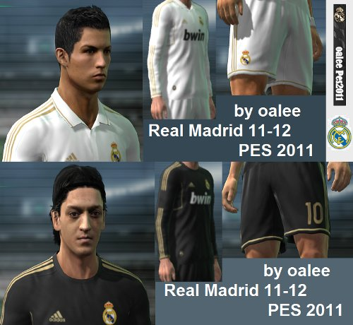 equipacion real madrid 2011-2012 para pro evolution soccer 2011