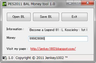 bal money tool para pro evolution soccer