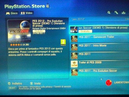 Descarga ya la demo de PES2012 para PS3. XBOX360 en unos dias