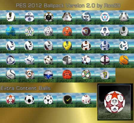 pack balones pes2012