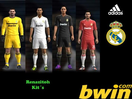 equipacion real madrid pes2012