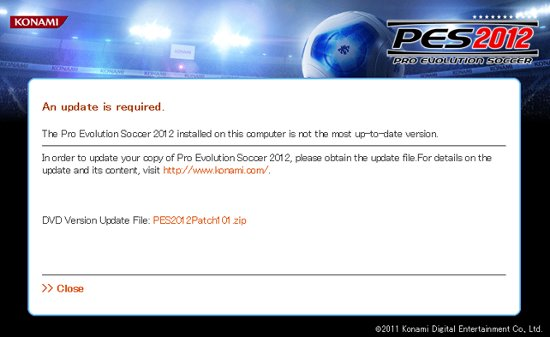 PES2012: Parche oficial ya disponible para PS3