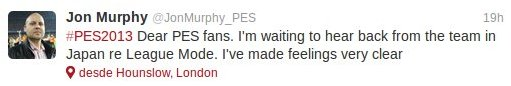 PES2013: Podria volver el modo liga
