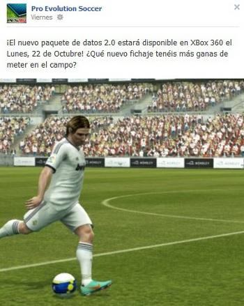 PES2013: DLC 2.00 para XBOX360 disponible el 22 de octubre