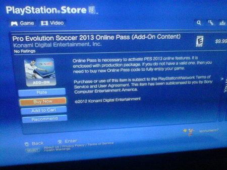 PES 2013: Preguntas frecuentes Online Pass PS3