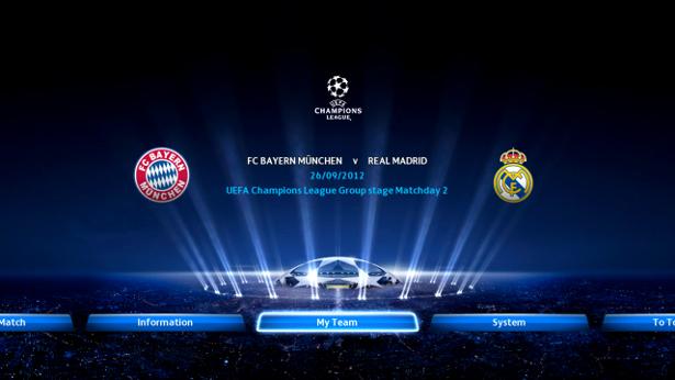 PES2013: Primeras imagenes del modo UEFA Champions League