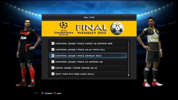 balon final Wembley pes 2013