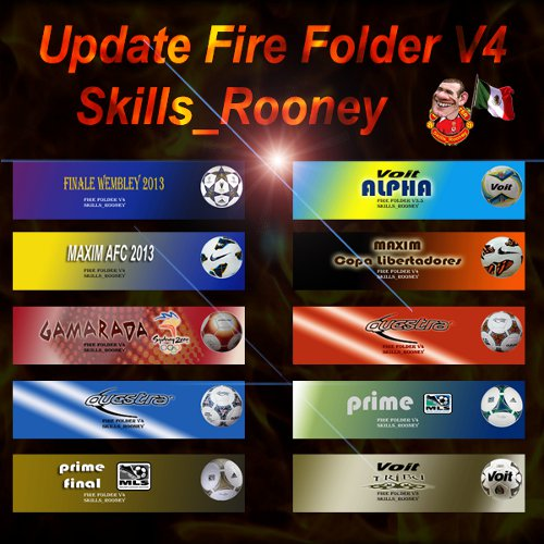 update fire folder para pes 2013