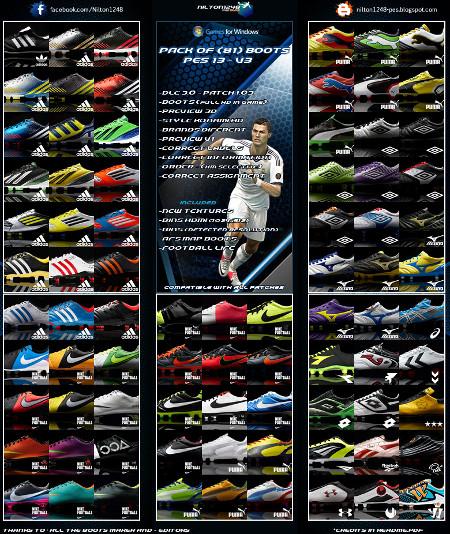 Pes 2013 Pc Edições Evolution: Descargas Pro Evolution Soccer 2013 PC Botas