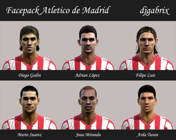 facepack atletico de madrid pes 2013