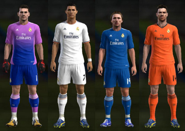 Real Madrid kits pes 2013