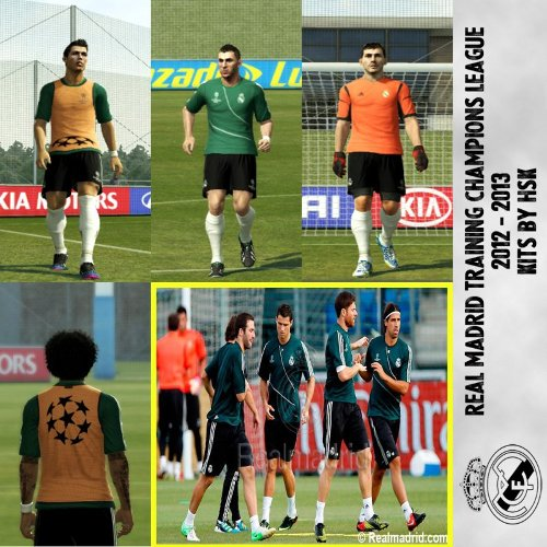 kit entrenamiento champions league real madrid