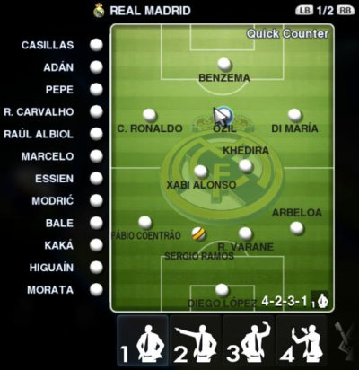 gameplan real madrid pes 2013