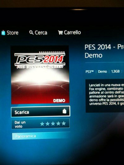 Se filtra por error la Demo de PES 2014 para PS3