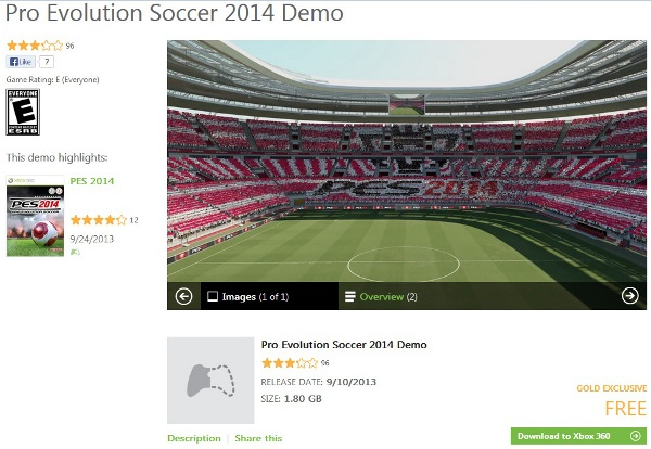 PES 2014: Demo ya disponible en Xbox 360