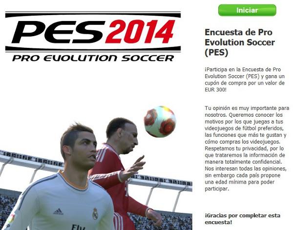 PES 2014: Encuesta oficial por parte de Konami