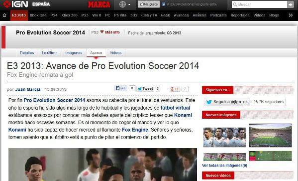 PES 2014: Impresiones de IGN España en el E3