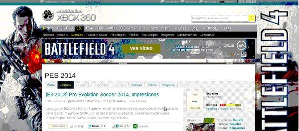PES 2014: Impresiones de Meristation en el E3