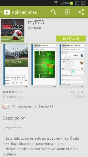 PES 2014: Versión de myPES para Android ya disponible