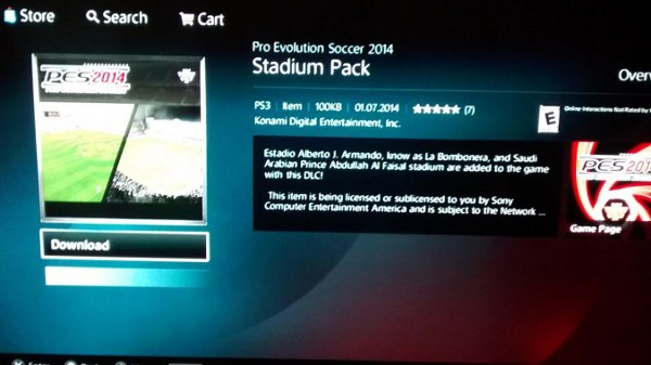 PES 2014: Segundo pack de estadios ya disponible