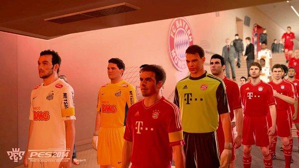 PES 2014: Imagen tunel vestuarios Allianz Arena