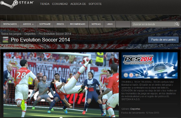 PES 2014: Ya disponible en Steam