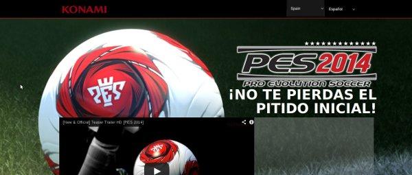 Konami abre la nueva web de Pro Evolution Soccer 2014
