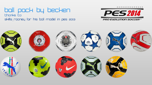 pack balones pes 2014