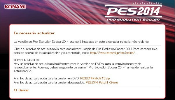 patch 1.06 pes 2014 con crack