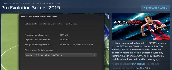 PES 2015: Demo de PC ya disponible en Steam