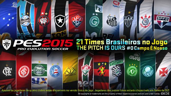 PES 2015: Konami anuncia los equipos licenciados brasileños