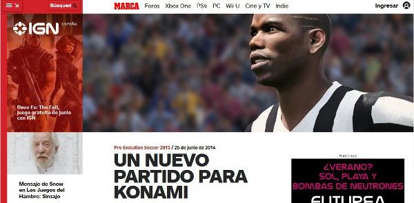 IGN PES 2015: Un nuevo partido para Konami