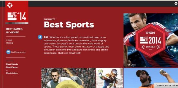 IGN premia a PES 2015 como mejor juego deportivo de 2014