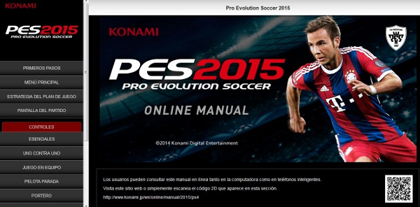 PES 2015: Manual disponible Online