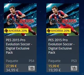 PES 2015: PS4 y PS3 ofertón por navidad en PlayStation Store