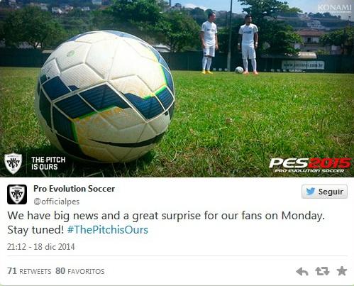 PES 2015: Grandes noticias y sorpresas el lunes 22
